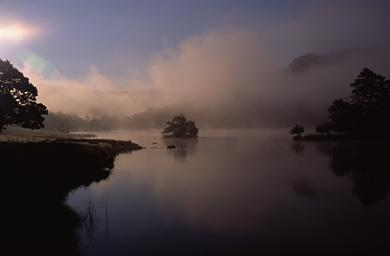Rydal Water in Mist