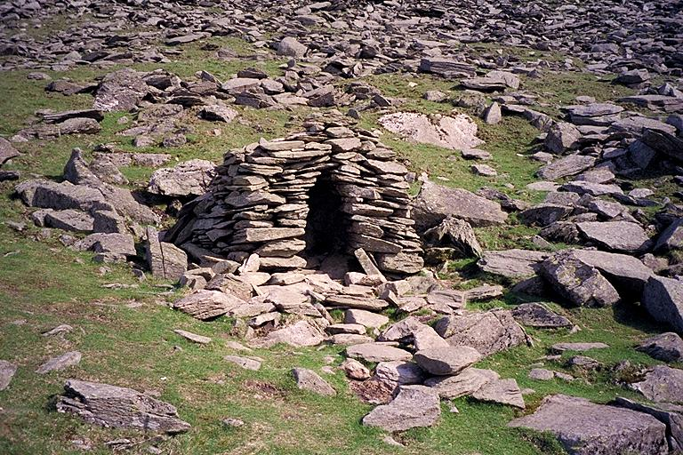 Stone Shelter by the Walna Scar Road - Large Photo One Person