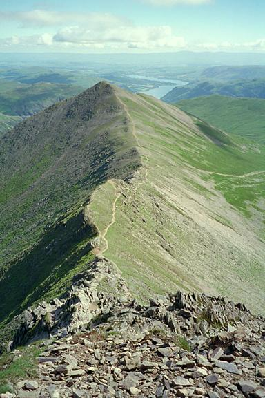 Swirral Edge from Helvellyn