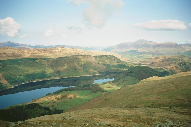 Thirlmere from the Helvellyn Path